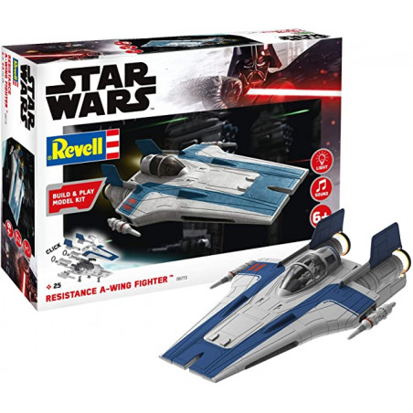 RESISTANCE A-WING FIGHTER STAR WARS EASY CLICK AVEC SON ET LUMIERE 1/144 REVELL