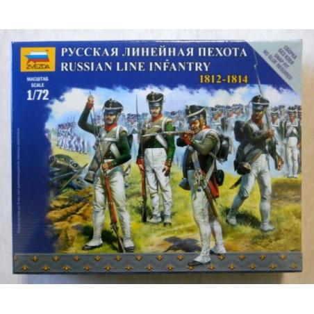 INFANTERIE LIGNE RUSSE  1812-1814 1/72 ZVESDA