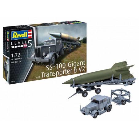 SS-100 GIGANT WITH TRANSPORTER & V2 1/72 REVELL