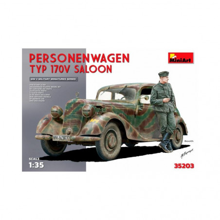 PERSONENWAGEN TYPE 170V SALOON AVEC 1 FIGURINE 1/35 MINI ART