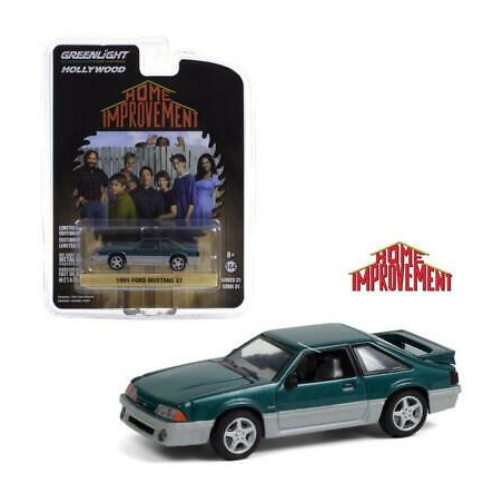 FORD MUSTANG GT 1991 HOME IMPROVEMENT 1/64 GREENLIGHT