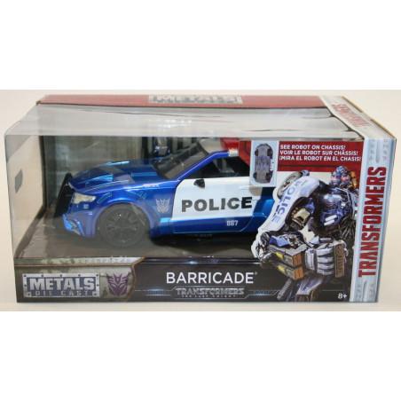 "FORD MUSTANG POLICE BARRICADE "" TRANSFORMERS "" 1/24 JADA 0"