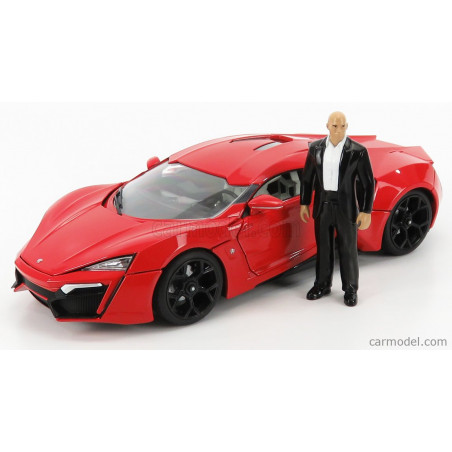 LYCAN HYPERSPORT W MOTORS AVEC LED FAST AND FURIOUS 1/18 JADA