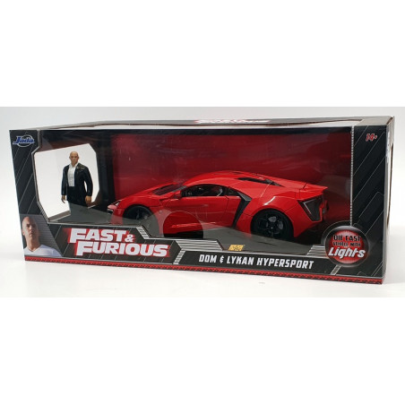 LYCAN HYPERSPORT W MOTORS AVEC LED FAST AND FURIOUS 1/18 JADA 1