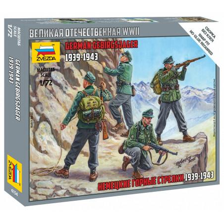 1/72 ZVESDA CHASSEURS ALPINS ALLEMANDS 1939-1943